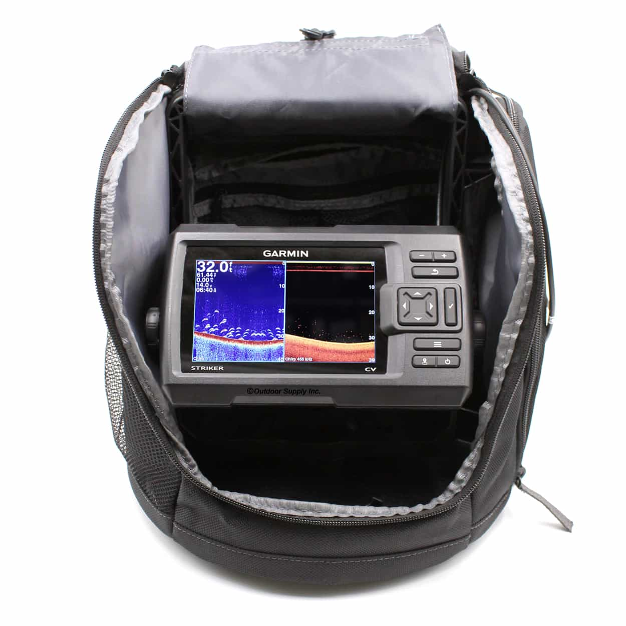 Striker plus 5cv portable fishfinder bundle outdoor for Garmin panoptix ice fishing