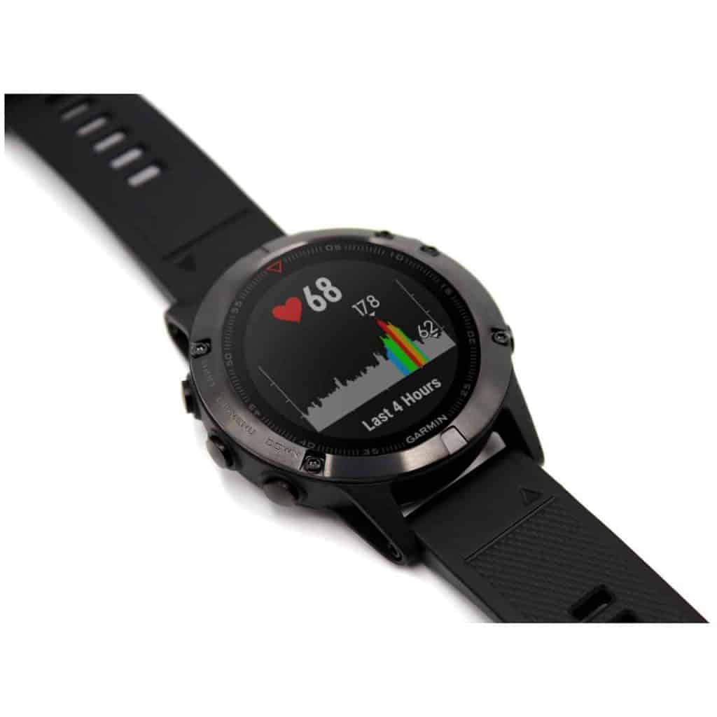 Garmin fenix 5 watch slate grey - black band - sapphire edition 010-01688-10