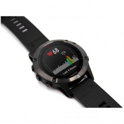 Garmin fenix 5 watch slate grey - black band - sapphire edition 010-01688-10
