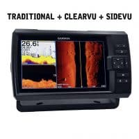 Garmin STRIKER Plus 9sv Fishfinder with CHIRP ClearVü & SideVü – Quickdraw Contours - ActiveCaptain