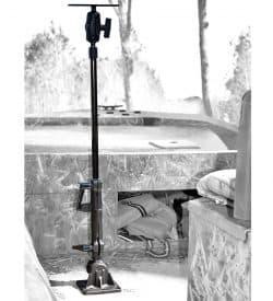 Foldable and adjustable heavy duty RAM bow Mount