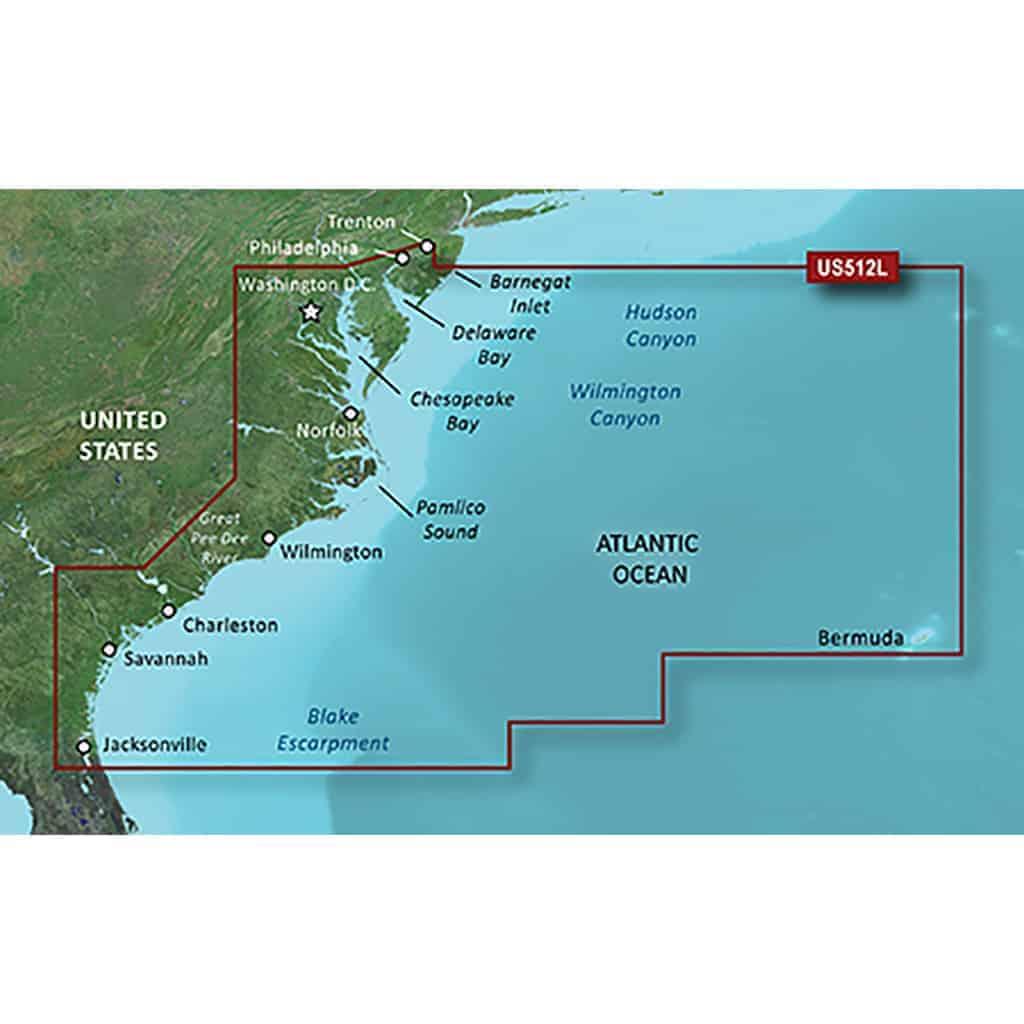 microSD//SD Norfolk-Charleston Garmin BlueChart G2 Vision VUS007R