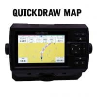 Garmin Striker Plus 5cv quickdraw map screen