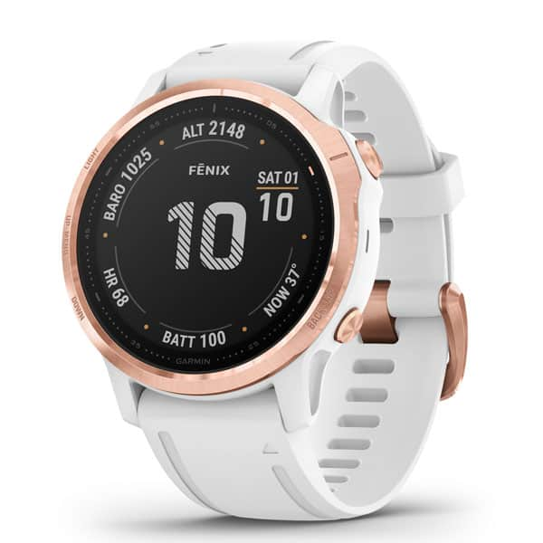 fēnix® 6S Pro, Rose Gold-tone with White Band