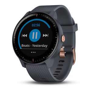 vívoactive® 3 Music Granite Blue with Rose Gold Hardware