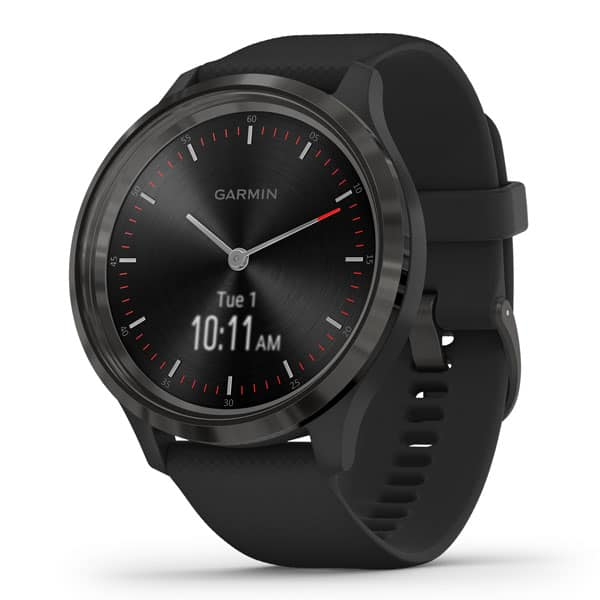 vivomove 3 – Black – Slate Stainless Steel Bezel with Black Case & Silicone Band