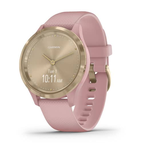 vivomove 3S – Light Gold Stainless Steel Bezel with Dust Rose Case and Silicone Band